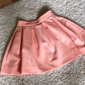 Nasty Gal Peach Mini Skirt Size Small